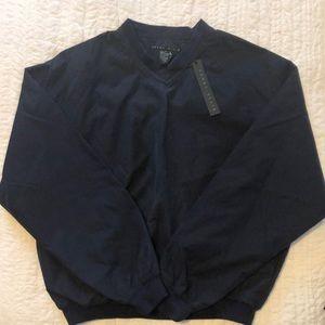 Men's Perry Ellis V neck wind jacket, S, NEW